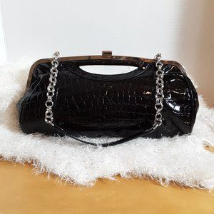 Bueno Patent Leather Clutch
